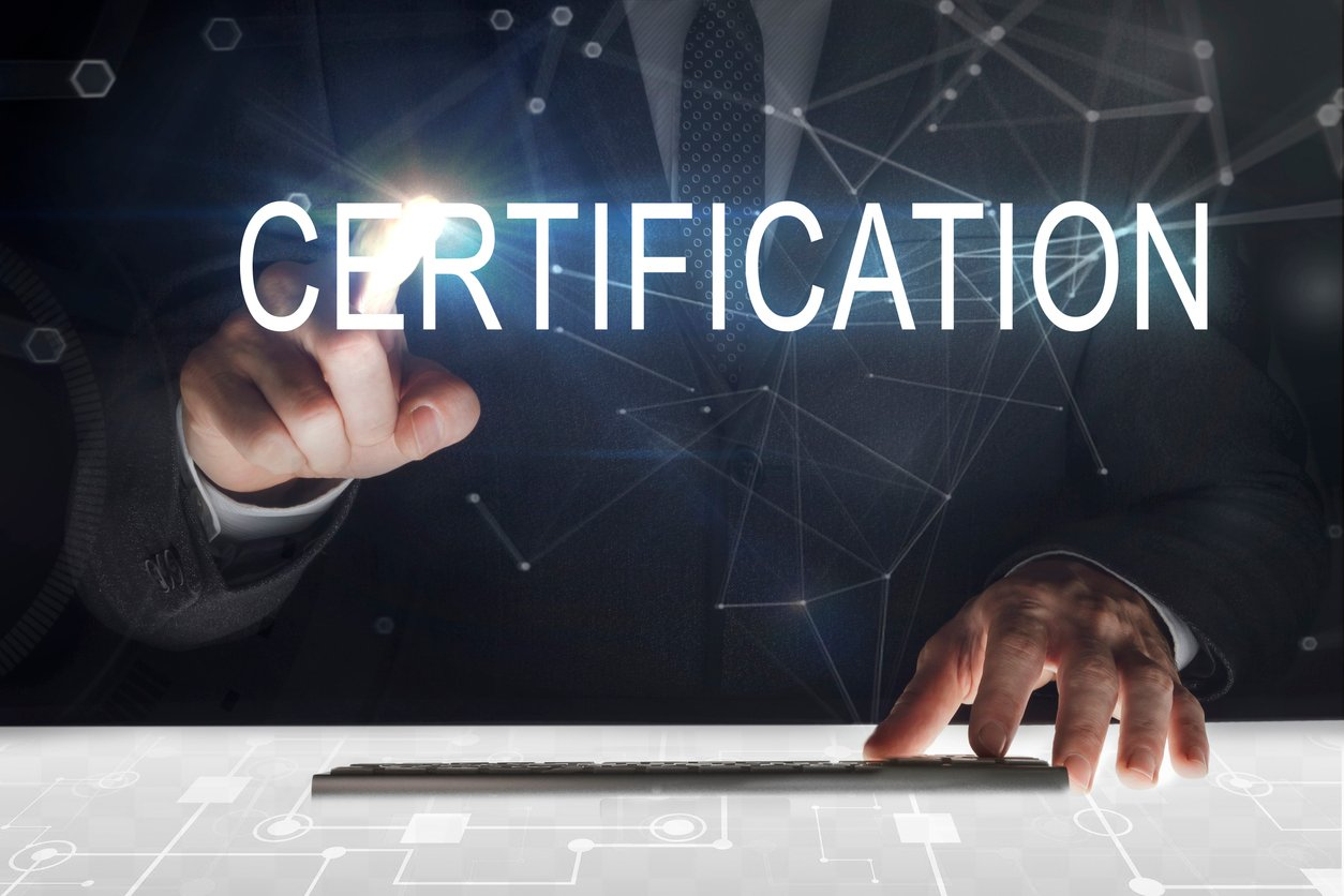 Certification text image